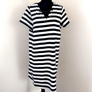 🆕MK Black & White Striped Dress